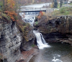 Waterfall on Cornell University Campus