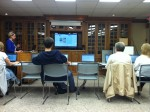 Patrons at the Waverly Free Library learn how to navigate the web.