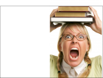 crazy librarian screaming scream