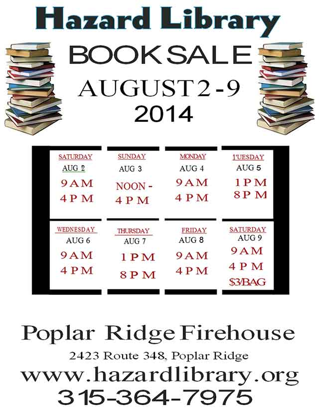 Hazard Library Book Sale 2014