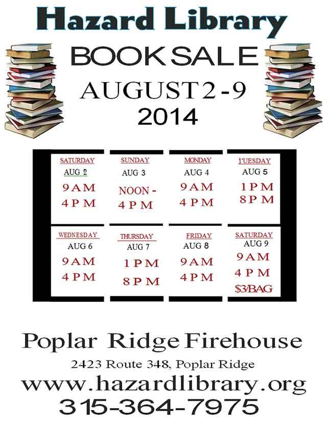 Hazard Library Book Sale 2014