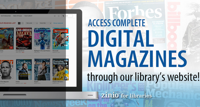 Zinio eMagazines Now Available to Patrons