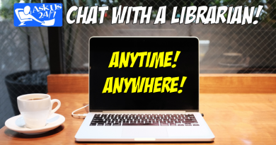 Chat with a librarian! Anytime! Anywhere!