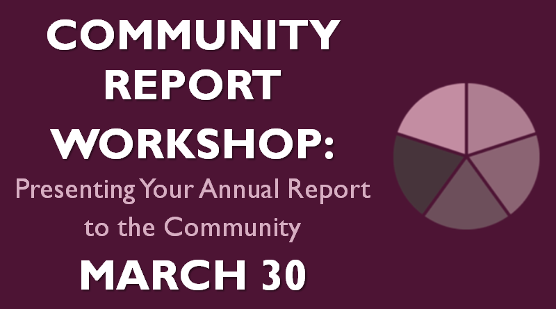 Community Report Workshop