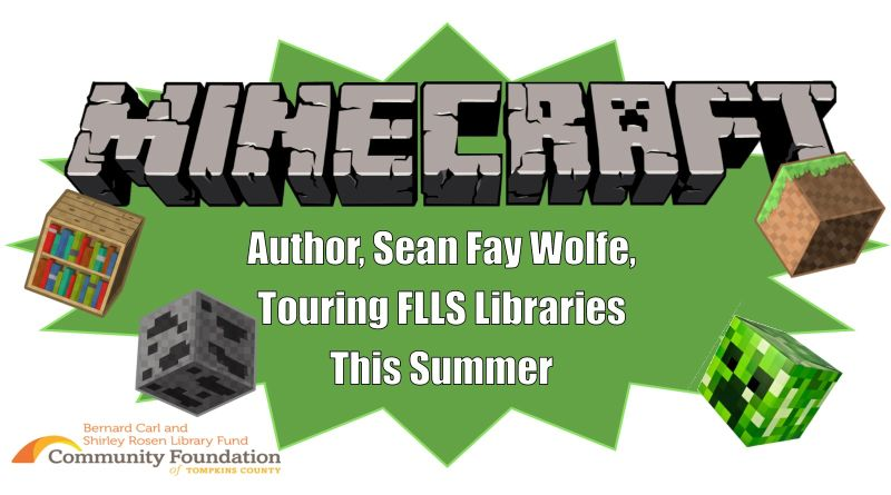 Minecraft Author to Tour FLLS Libraries This Summer