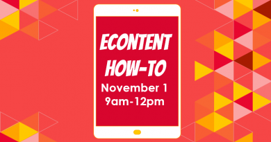 Econtent How to on November 1 at 9am at FLLS