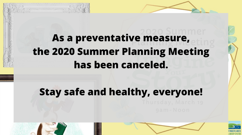 2020 Summer Planning Meeting canceled