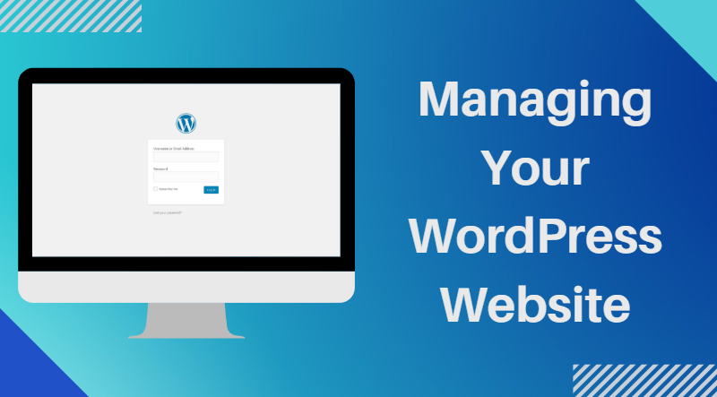 Image for Slider with a desktop computer displaying the WordPress website