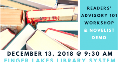 Readers' Advisory 101 Workshop & Novelist Demo on December 13, 2018 at 9:30am at FLLS